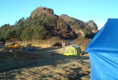 camping at sandakpur